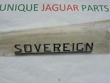 "NEW ""SOVEREIGN"" GENUINE JAGUAR DAIMLER METAL CHROME BADGE SERIES 1 & 2 XJ6 XJ12"