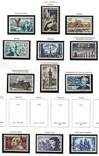STAMP / TIMBRE DE FRANCE OBLITERE LOT ANNEE 1955 / CELEBRITE / DIVERS