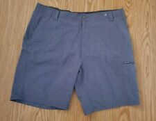 Zero Xposure MensTravel Shorts size 42 Polyester Spandex Flat Front Outdoor blue