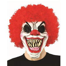 Creepy Evil Scary Halloween Clown Mask Rubber Latex Pennywise Clown FREESHIP