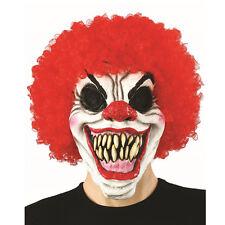Creepy Evil Scary Halloween Clown Mask Rubber Latex CURLY CLOWN