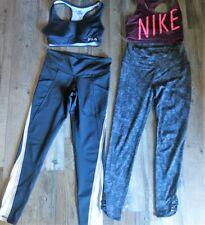 Lot Women's Workout Clothes Sz M Nike Fila Pants Sports Bras
