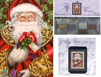 MIRABILIA Cross Stitch PATTERN and EMBELLISHMENT PACK Santa MD120