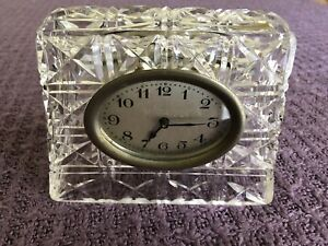 Square Crystal Desk Clock