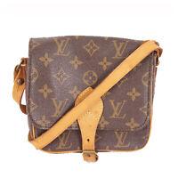 LOUIS VUITTON Vintage M51254 Monogram Cartouchiere PM Shoulder Bag LV Used