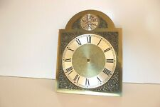 Hermle Grandfather Clock Face Dial Holed Brass Metal Vintage