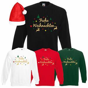 Frohe Weihnachten Rentier Herren Sweatshirt mit Motiv Nikolaus Geschenk