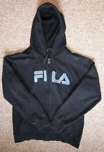 FILA Vintage Strick-Jacke / Blau-Schwarz / Größe M