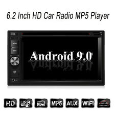 Android 9.0 2 Din GPS navi DVD multi media Player Stereo Car Radio 6.2 inch