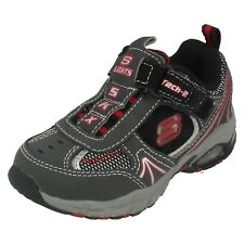 Boys Skechers Light Up Trainers 90403N/CCBK