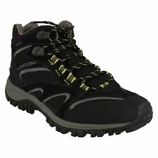 MENS MERRELL PHOENIX MID WATERPROOF BLACK LACE UP WALKING HIKING ANKLE BOOTS