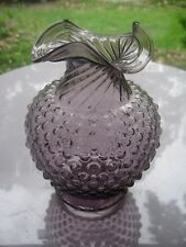 "Tiara Indiana Glass Amethyst Purple Plum Hobnail 8 1/4"" Vase"