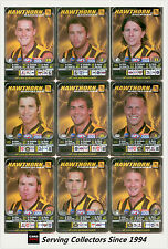 2005 AFL Teamcoach Trading Card Silver Team set Hawthorn (9)