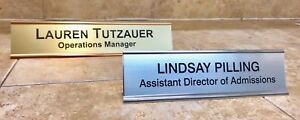 NAME PLATE OFFICE DESK ENGRAVED DOOR SIGN PERSONALIZED EMPLOYEE 2X8, 2X10, 2X12