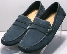 251789 MS38 Men's Shoes Size 10 M Navy Leather Driving Shoes Johnston & Murphy