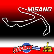 ADESIVO PVC CIRCUITO MISANO prespaziato auto moto sticker