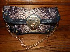 Henri Bendel  Baguette Leather Shoulder Bag w/ Gold Chain!  Barely Carried!