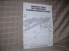 Mémoire et vérité des combattants d'Afrique française du Nord livre blanc