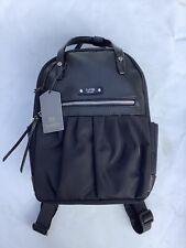 Tutilo Spendor Mini Backpack Purse Holds Smart Devices Black Nylon