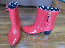 NEW Kate Spade New York Penny Short Rubber Rain Boots Women Size 7 Red $175