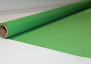 Chromakey Greenscreen Wrinkle-Free Heavy VINYL-Backed Backdrop Zoom Video Rolled