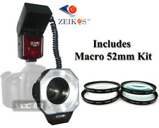 Dedicated ETTL Macro Ring Flash+4 Macro Filter FOR CANON D60a 7D 5D T6i T5i T4i