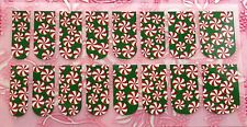 NAIL ART DECALS FOIL WRAPS 4 FINGERS/TOES CHRISTMAS CANDY/SWEET TREATS #986