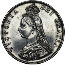More details for 1888 double florin - victoria british silver coin - nice