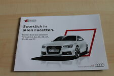 129081) Audi Q3 A4 A5 A6 A7 - S Line Selection - Prospekt 10/2013