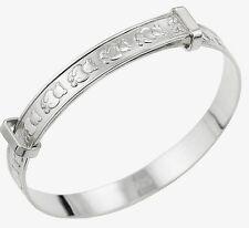Real Silver Baby Expanding Christening Gift Bangle Baptism Birthday Bracelet 925