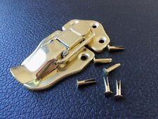 LARGER BRASS Draw Latch Guitar/Instrument Case Gibson Fender w/ rivets USA MADE