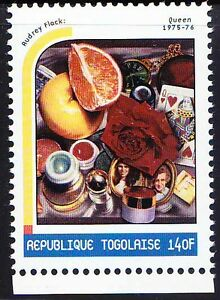 Togo 2000 MNH, Painting by Audrey Flack, American painter, sculptor