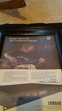 Joe Walsh Rare Original Yamaha Promo Poster Ad Framed!