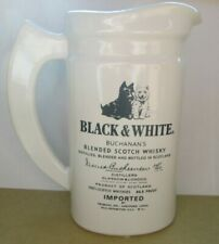 Vintage Black & White Buchanan's Blended Scotch Whisky Ceramic Pitcher
