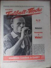 FUWO 39 - 24.9. 1957 * Horst Scherbaum Vorschau DDR-Wales Brieske-Babelsberg 3:0