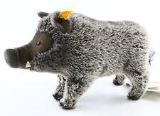 "Steiff 072246 Raggi Warthhog Wild Boar Standing 11"" Long W/ Button ca 1980s?"