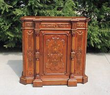 Outstanding Victorian Renaissance Revival Walnut wGold Incising Credenza c1875