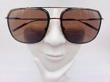 Vintage Dolce & Gabana DG2165 Brown Gold Aviator Sunglasses Frames Italy