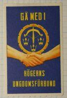 GA Medi Hogerns Ungdomsforbund WW Charity Seal Poster Stamp