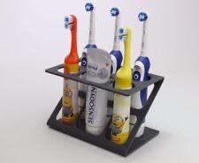 Electric Toothbrush Holder Toothpaste Holder 5x Toothbrush Stand Dark Grey Matt