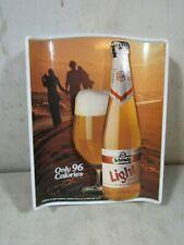 Vintage Schmidt's Light Beer Small Plastic Advertising Sign Bar Pub
