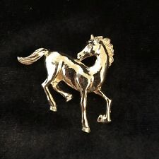 Vintage Horse Pin / Brooch Gold Tone