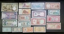 Lot of 18 Banknotes of CAMBODIA -Better Grade-  #18