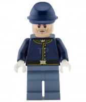 Lego Cavalry Soldier 79106 Brown Eyebrows, Stubble The Lone Ranger Minifigure