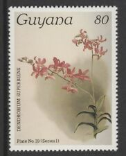 Guyana 6573 - 1985 Orchids  80c unlisted without surcharge unmounted mint