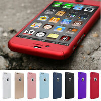 For iPhone 6 / 6s Plus 360° Full Hybrid Tempered Glass Hard Acrylic Case Cover