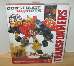Transformers AOE Construct-Bots Dinobot Warriors Bumblebee & Nosedive Dino NIP