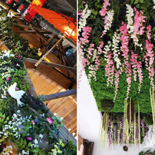 Crafts Fabric Wisteria Bouquet Rattan Party Hanging Artificial Flower Home Decor