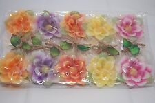 Pack of 10 Flower Shaped Floating Candles - Assorted Colours & Flower Shapes