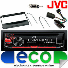 Ford Focus 98-04 JVC Car Stereo CD MP3 USB & Steering Wheel Interface Kit BLACK